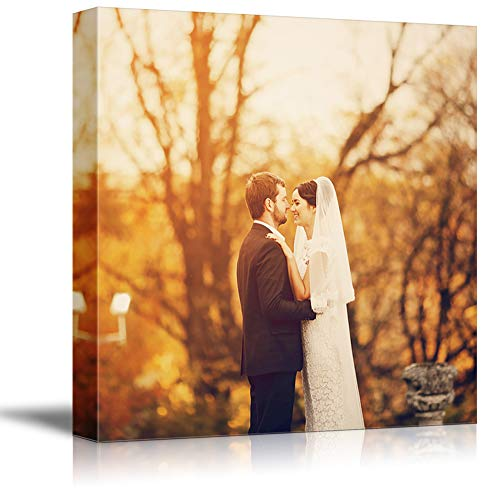 NWT Custom Canvas Prints with Your Photos for Wedding, Personalized Canvas Pictures for Wall to Print Framed 12x12 inches