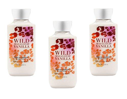 Bath & Body Works Wild Madagascar Vanilla Body Lotion Pack of 3 ()