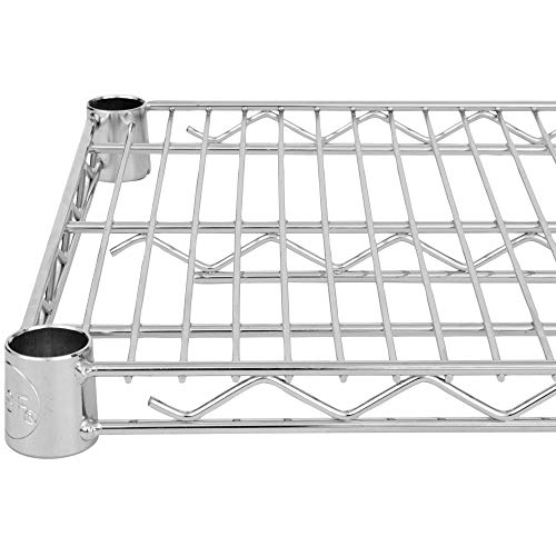 (Commercial Chrome Wire Shelving 24 x 60 (2 Shelves) - NSF)