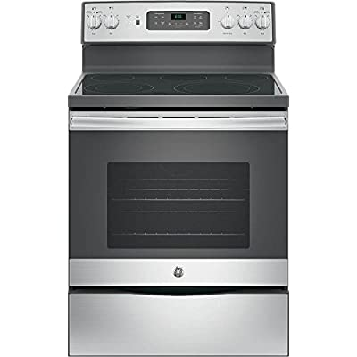 """GE JB655SKSS 30"""" Star K Freestanding Electric Range with 5 Radiant Elements, 5.3 cu. ft. Oven Capacity, Stainless Steel"""