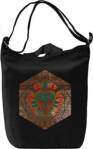 Ethnic Mask Borsa Giornaliera Canvas Canvas Day Bag| 100% Premium Cotton Canvas| DTG Printing|