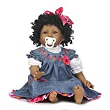 Gbell 22 Inch Reborn Doll Girl Realistic Baby Doll with Pacifier &Bottle (Silicone Vinyl Full Body),Lifelike Newborn Girl Doll Birthday Gifts Toy for Little Toddlers Girls Kids 2+ (Multicolor)