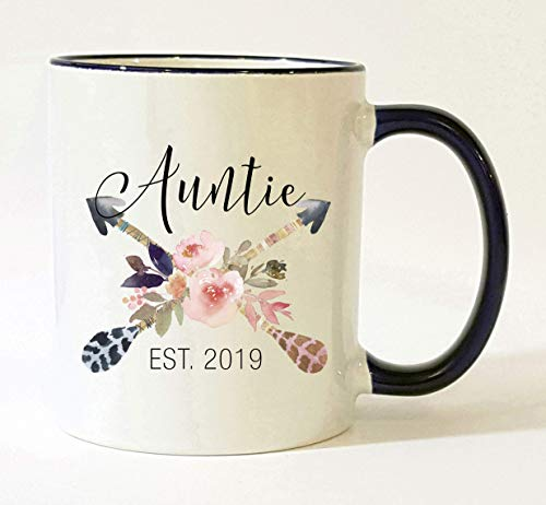 Auntie Est 2019 Mug Pregnancy Announcement 2019 New Aunt Mug
