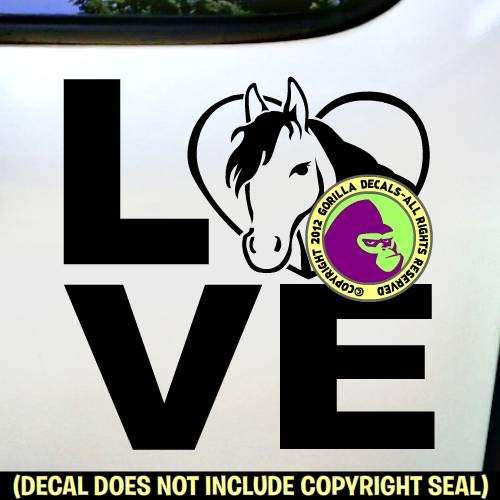 LOVE Word HORSE IN HEART Vinyl Decal Sticker E
