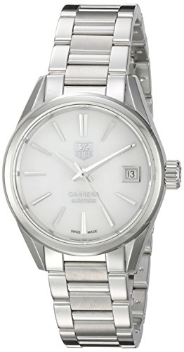 TAG Heuer Women's 'Carrera' Swiss Automatic Stainless Steel Dress Watch, Color:Silver-Toned (Model: WAR2411.BA0776)