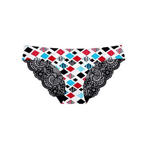 HYIRI Classic 1PC Sexy Low Waist Underwear,Women Lace Flowers Panties G-String Lingerie Thongs