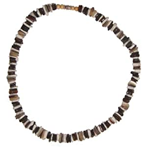 puka shell necklace mixed chips mens shell surfer hawaiian