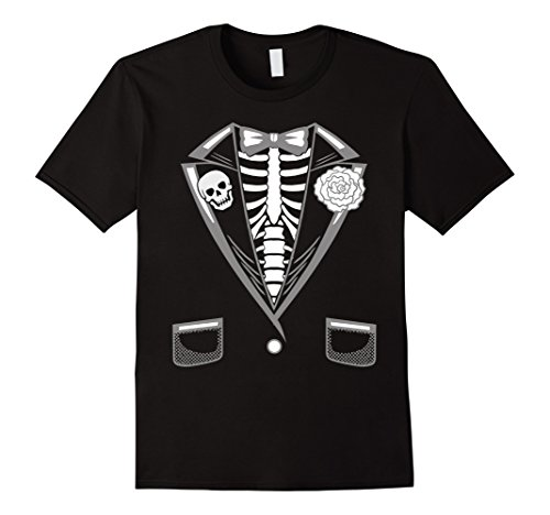 Funniest Mens Halloween Costumes (Mens Halloween Costume Funny Skeleton Tuxedo T-Shirt Large Black)