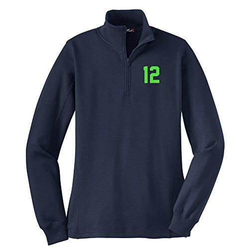 Ladies 1/4 Zip Sweatshirt - 2