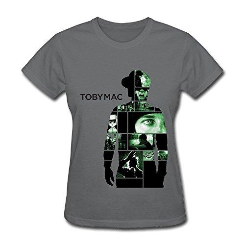 T4MLT Christian Rappers Tobymac Womens Fashion T Shirt DeepHeather