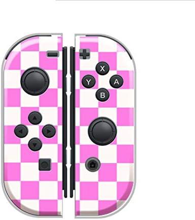 Nintendo Switch ケース 任天堂 スイッチ ジョイコン ケース ハードタイプ 傷から守る 市松模様 チェック ska スカ ツートーン チェック チェッカー 人気 かっこいい おしゃれ