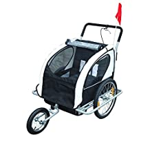 Aosom Elite 2-in-1 Double Child Bike Trailer/Jogger