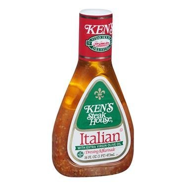 Ken's Steakhouse Italian with Extra Virgin Olive Oil Dressing (2 Pack) 16 oz (Kens Italian Dressing)
