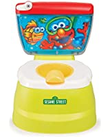 Sesame Street Elmo Adventure Potty Training Chair with Toilet Seat Adapter and Elmo's Motivating Phrases and Flush Sounds