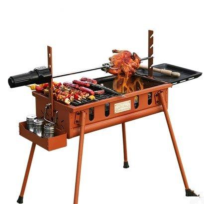 Barbacoa al aire libre portátil juego completo de herramientas de carbono grill barbacoa barbacoa barbacoa de