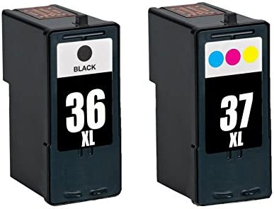 Amazon INKTONER 2x For Lexmark 36 Black 37 Color Ink Cartridge X5650 X6650 Printer Office Products