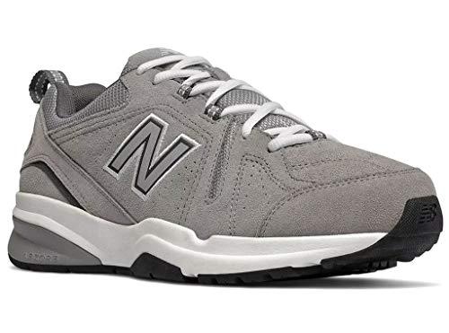 New Balance Men's 608v5 Casual Comfort Running Shoe, Grey Suede, 10 4E US