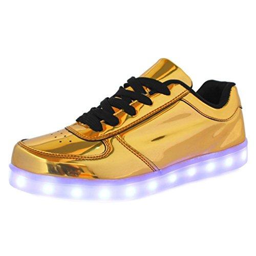 [Presente:pequeña toalla]JUNGLEST® Unisex 7 Colors USB Carga LED Luz Luminosas Flashing Sneakers Altotop Zapatos Zapatillas de Depo c13