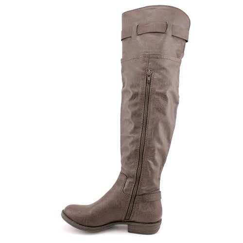 American Rag Ikey Womens Brown Faux Leather Fashion Over the Knee Boots UK 2.5 yt4WNjzujC
