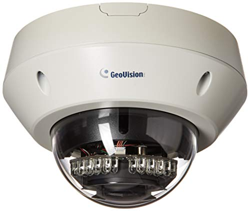 Geovision GV-EVD3100 3MP H.264 Super Low Lux WDR Pro IR Vandal Proof IP Dome (White)