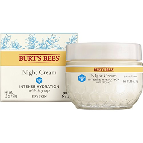 (Burt's Bees Intense Hydration Night Cream, Moisturizing Night Lotion, 1.8 Ounces)