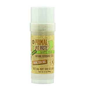 Primal Pit Paste Happy Pits All Natural Deodorant Stick, Aluminum Free, Paraben Free, No Added Fragrances, Coriander Sage by Primal Pit Paste