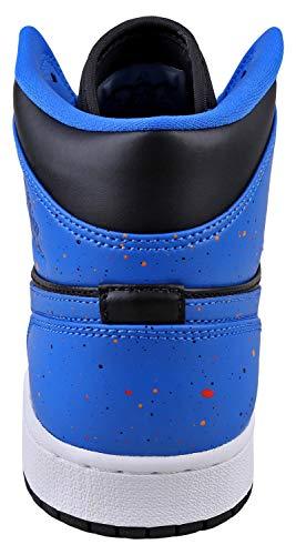 30074be5ce38c2 AIR Jordan 1 MID  Royal Paint Splatter  - 554724-048