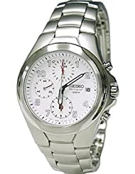 Seiko Mens 100M Chronograph Stainless Steel Watch SND181