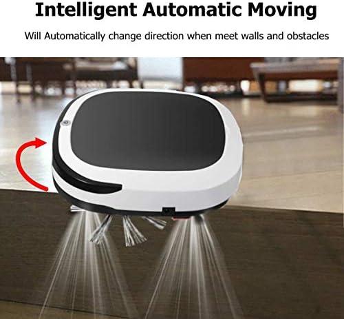 Mdsfe Rechargeable Smart Robot 2000PA Aspirateur Sec Balayage Humide sans Fil Automatique Balayeuse À Poussière Machine pour Nettoyage À Domicile - Noir, A2