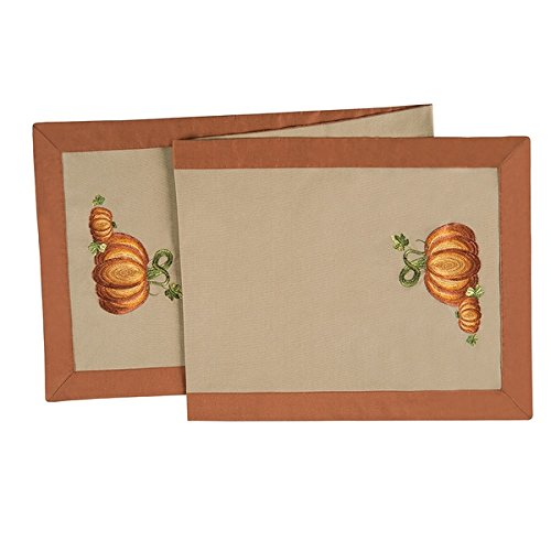 Harvest Love Cotton Embroidered Table Runner 14x51 (Set of 3)