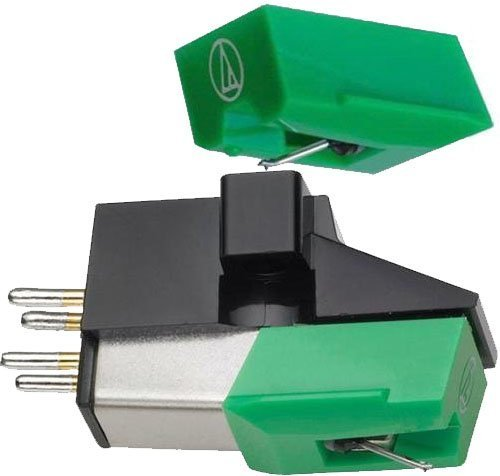 Audio-Technica Dual Magnet Phono Cartridge (AT95E)with replacement stylus ATN95E by AUDIO TECHNICA