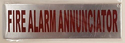 FIRE ALARM ANNUNCIATOR SIGN (brush aluminium ,ALUMINIUM 3x6) Annunciator Fire Alarm