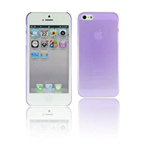 May Store Ultra Thin Slim Hard Matte Crystal Skin Case Cover for Apple Iphone 5 5g +Screen Protector(purple)