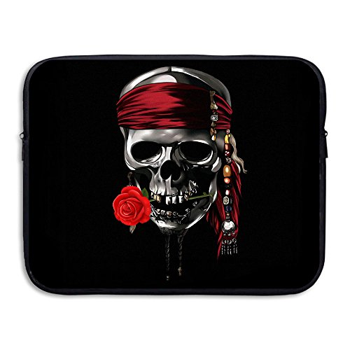 Romantic Pirate Skull Fake Skull For Halloween Sleeve For 15 Inch Laptop Bag Tablet Case Shockproof Spill-Resistant (Halloween En El Peru)