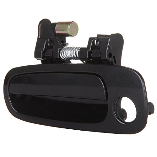 ECCPP Door Handle Exterior Outer Front Replacement Driver Side for 1998 1999 2000 2001 2002 Toyota Corolla Black(1pc)