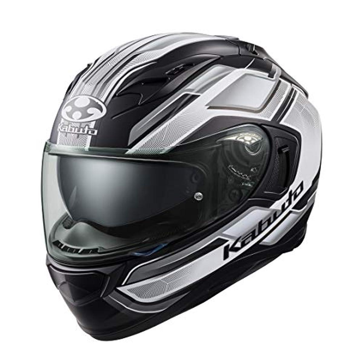 [해외] OG K (카부)카브도(OGK KABUTO)오토바이 헬멧 풀 페이스 KAMUI3 ACCEL(악셀) 플랫 블랙 화이트 (사이즈:XL) 585808