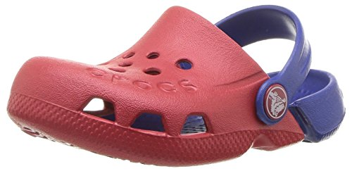 Crocs Unisex Electro Clog, Pepper/Cerulean Blue, 3 M US Little Kid