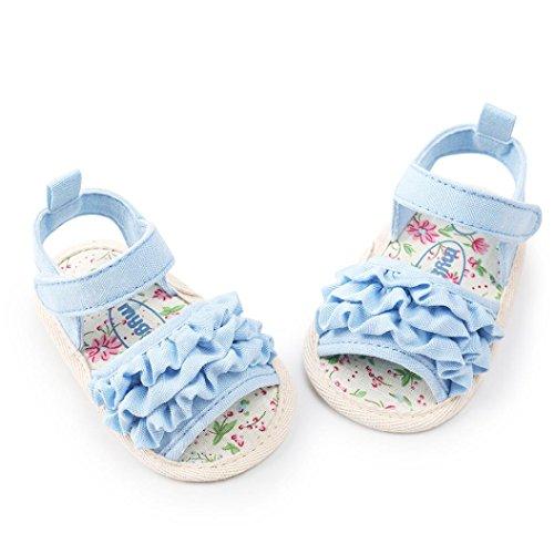 Sandalias bebé Niña ❤ Amlaiworld Sandalias de flores de bebé Niña Recién nacido Zapatos Bebé Primeros pasos Sneaker Zapatilla de prewalker Recién nacido ...