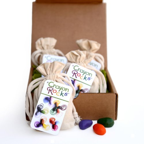 Crayon Rocks Sixteen Colors in a Cotton Muslin Bag (Pack of 4 in a Box)
