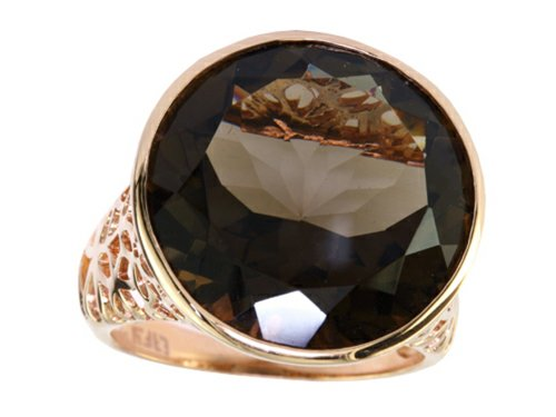 Effy Collection 14k Rose Gold Smoky Quartz Ring Size 6