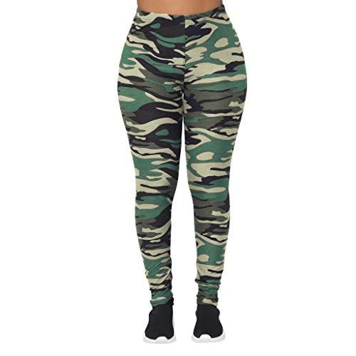 YANG-YI Women Classic Camouflage Yoga Pants Leggings Workout Slim Fitness Sports Trousers