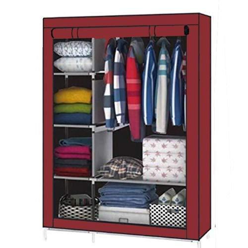 Aventure Foldable Iron Wardrobe With ShelvesMulticolour 135x45x175cm