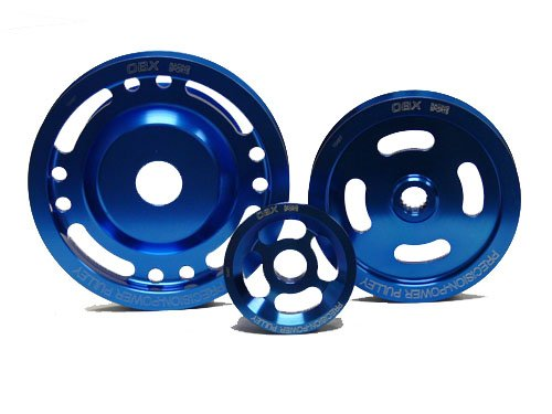 OBX Blue Overdrive Power Pulley Kit 95-99 Mitsubishi Eclipse GST/GSX and 95-98 Eagle Talon TSi/AWD 2.0L 4G63T (99 98 Stock 97 Eclipse)