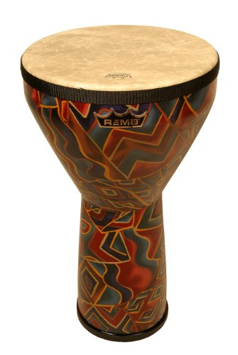 Remo Djembe, Festival, Large, 12'' Diameter, 21'' Height, Fabric Twinings by Remo