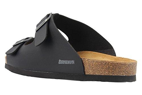 Dr. Brinkmann mens footbed sandal Black Schwarz dbyH6HXYJ