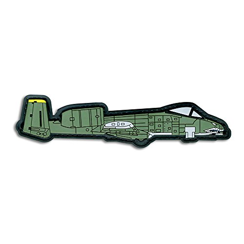 Tactical Combat Badge PVC Morale Patch Velcro Hook and Loop Patch - A-10 Jet Plane ODG