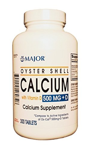 Major, Oyster Shell Calcium with Vitamin D 500MG+D , 300 tablets