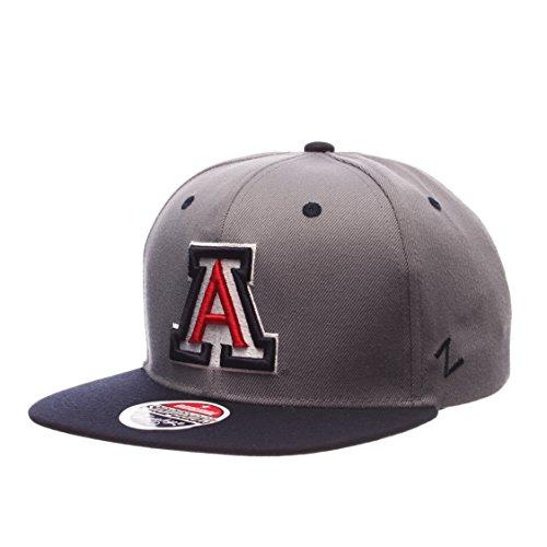 Wildcats Arizona Hat (NCAA Arizona Wildcats Men's Z11 Slate Snapback Hat, Grey/Navy, Adjustable)