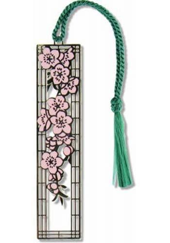 Cherry Blossom Metal Bookmark