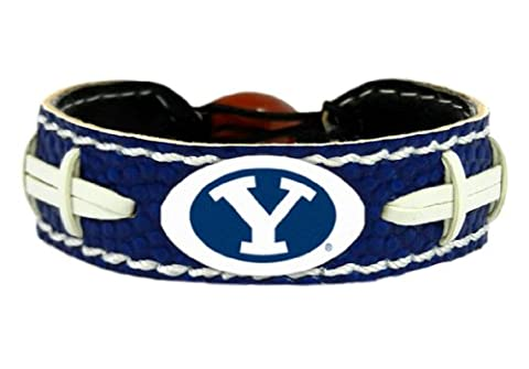 NCAA BYU Cougars Team Color Gamewear Leather Football Bracelet - Gamewear Sports Bracelet